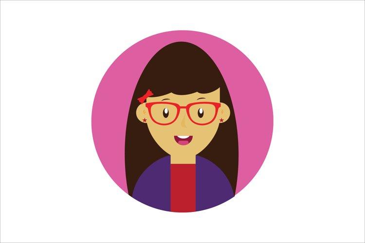 Icon Character Happy Girl example image 1