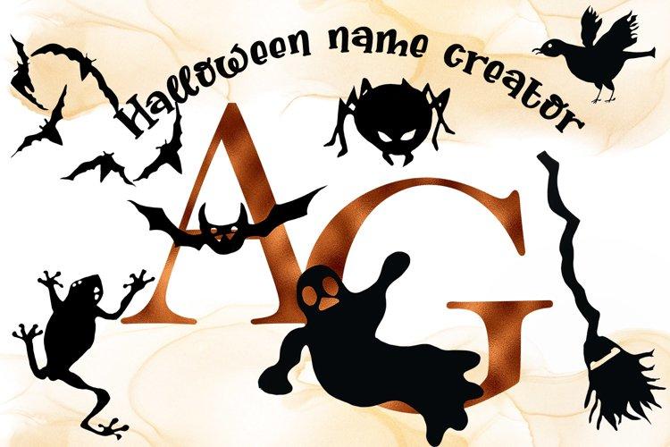 Halloween Alphabet - Name Creator example image 1