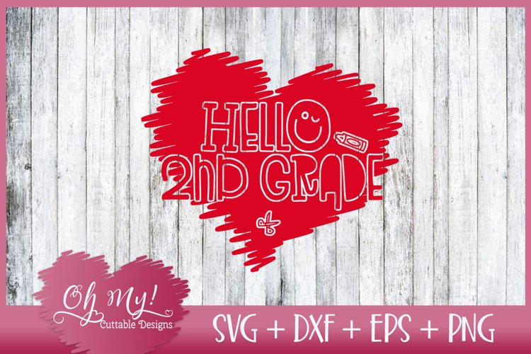 Hello 2nd grade - SVG DXF EPS PNG