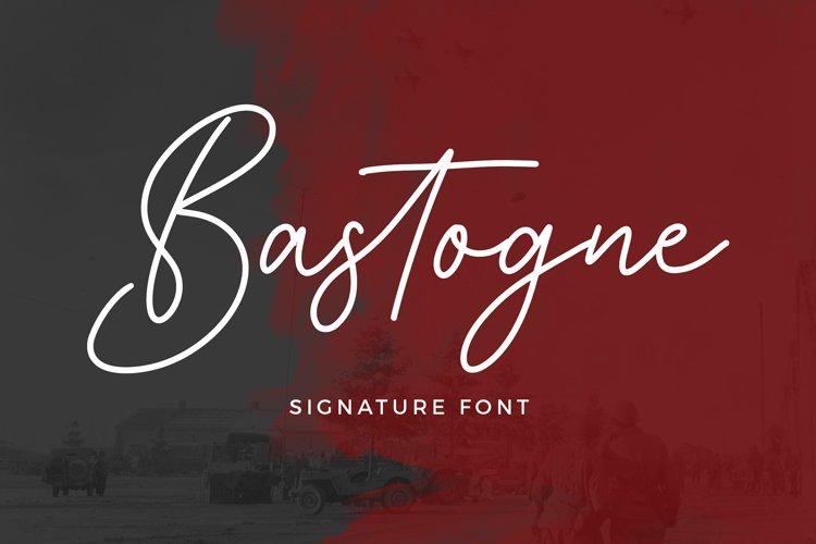 Bastogne Signature Font example image 1