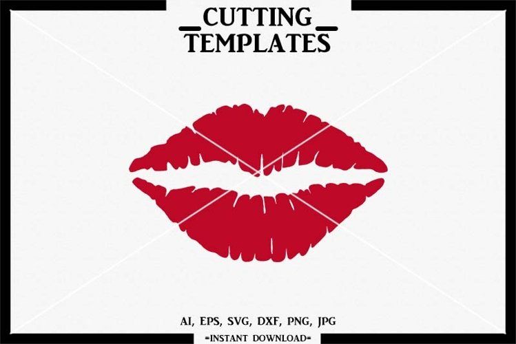 Kiss SVG, Lips SVG, Silhouette, Cricut, Cameo, SVG DXF PNG