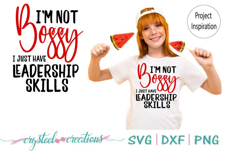 I am not Bossy SVG, DXF, PNG example image 1