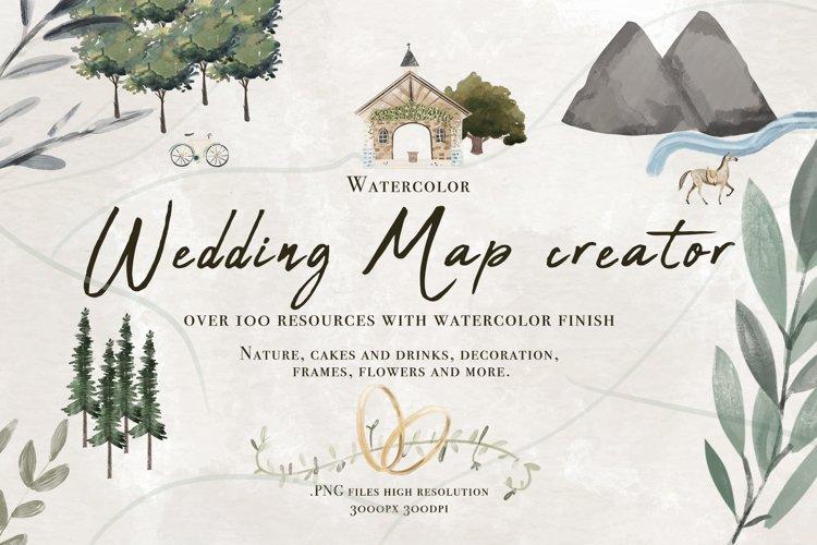 Wedding map creator watercolor example image 1