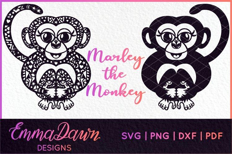 MARLEY THE MONKEY SVG MANDALA / ZENTANGLE 4 DESIGNS example image 1