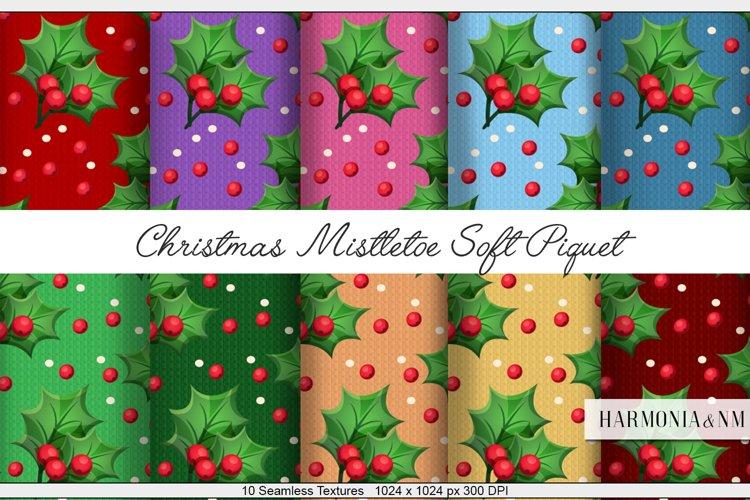 Christmas Mistletoe Soft Piquet 10 Seamless Textures example image 1