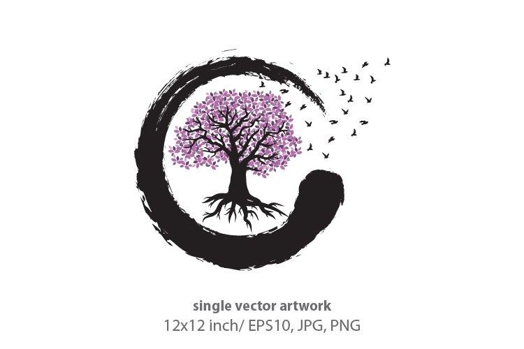 TREE OF LIFE, SINGLE VECTOR ARTWORK example image 1