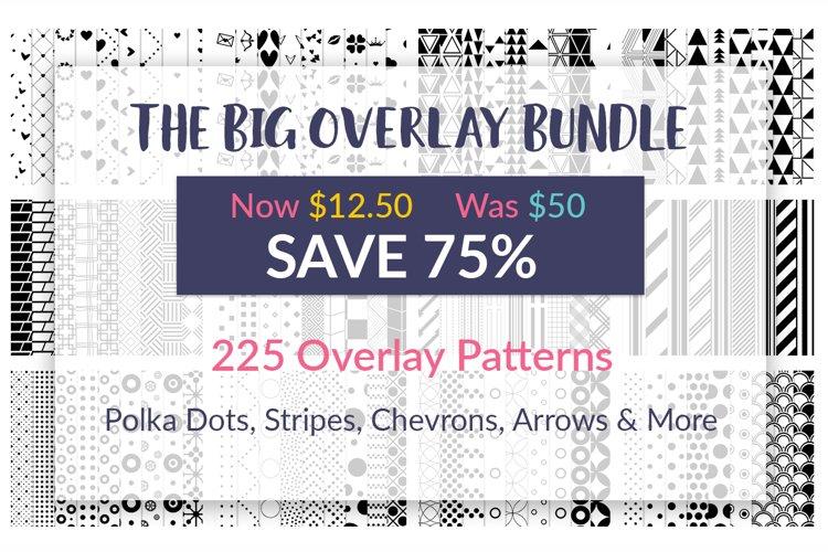 Overlay Pattern Bundle, Black on Transparent Backgrounds