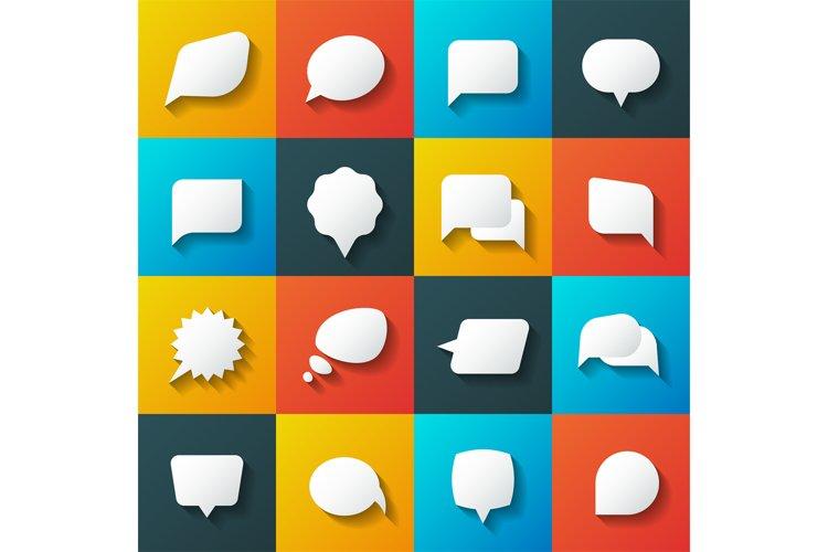 Retro converse speech bubble vector icons