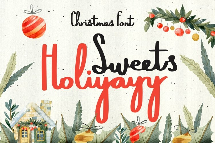 Web Font Sweets Holiyayy - Christmas Font example image 1