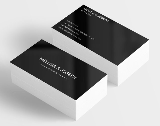 Classy company business card example image 1