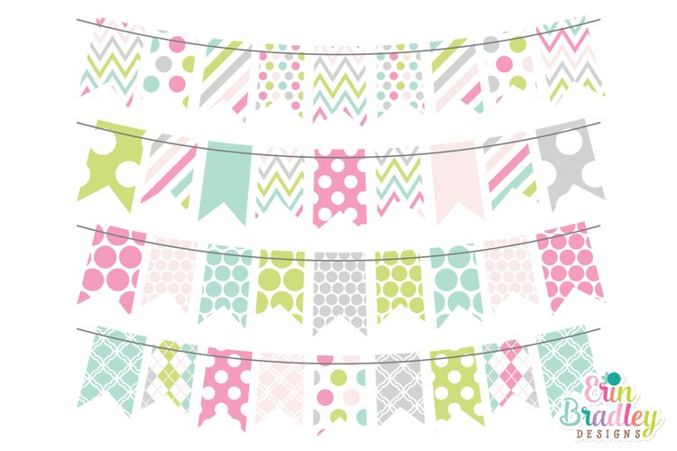 Soft Spring Bunting Clipart