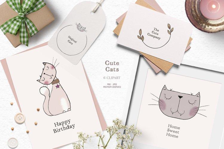 Cute cat clipart | Scandinavian kids clipart
