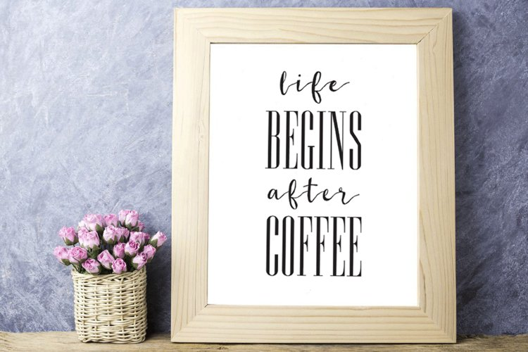 Coffee Printable Life Begins After Coffee Print Coffee Quote example image 1