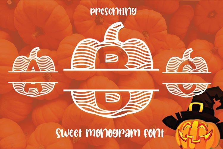Pumpkin Monogram Font for Halloween example image 1