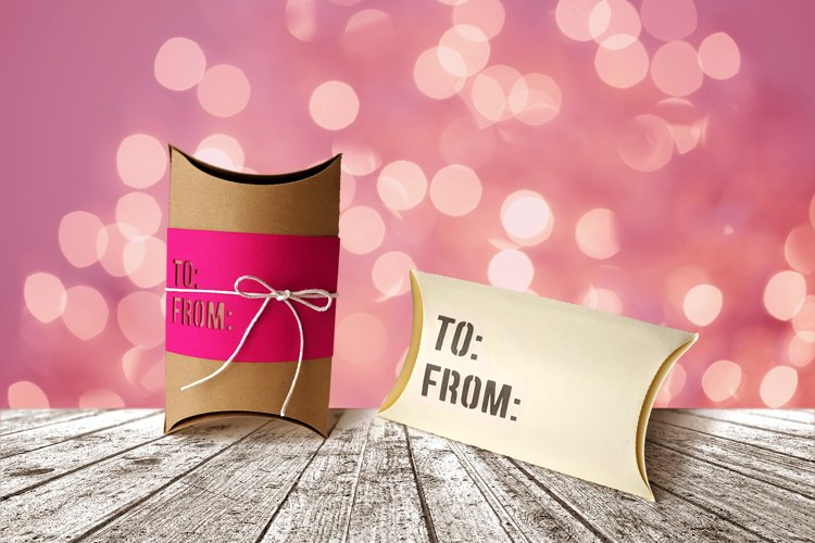To From Pillow Box Gift Box SVG Design example image 1