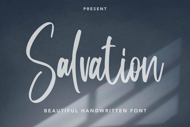 Web Font Salvation - Beautiful Handwritten Font example image 1