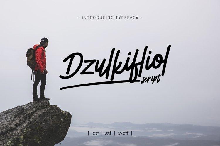 Dzulkifliol Script Font example image 1