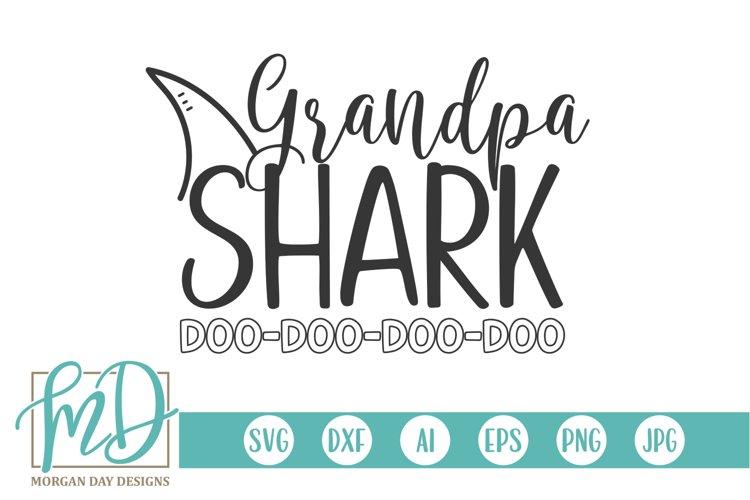 Family Shark - Doo Doo - Birthday - Grandpa Shark SVG