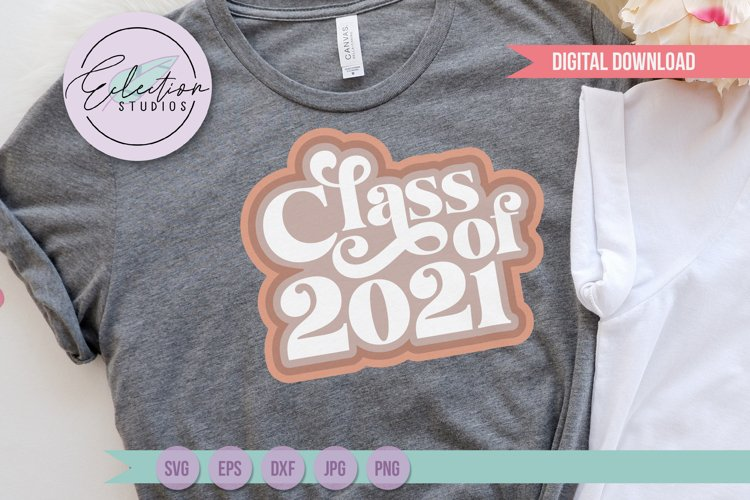Retro Class of 2021 Seniors Shirt SVG example