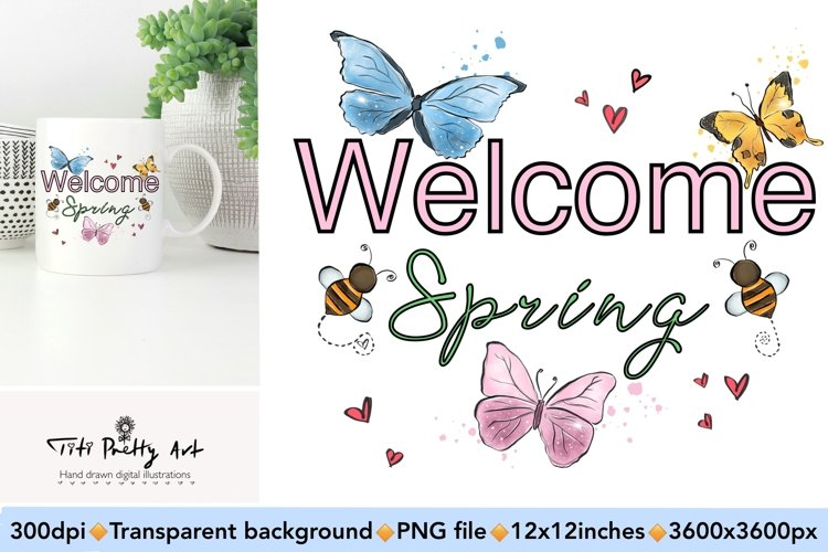 Welcome Spring PNG, Spring Is Here