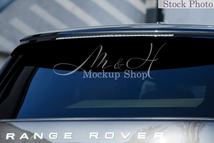 Car decal mockup / Gray SUV window vinyl mockup