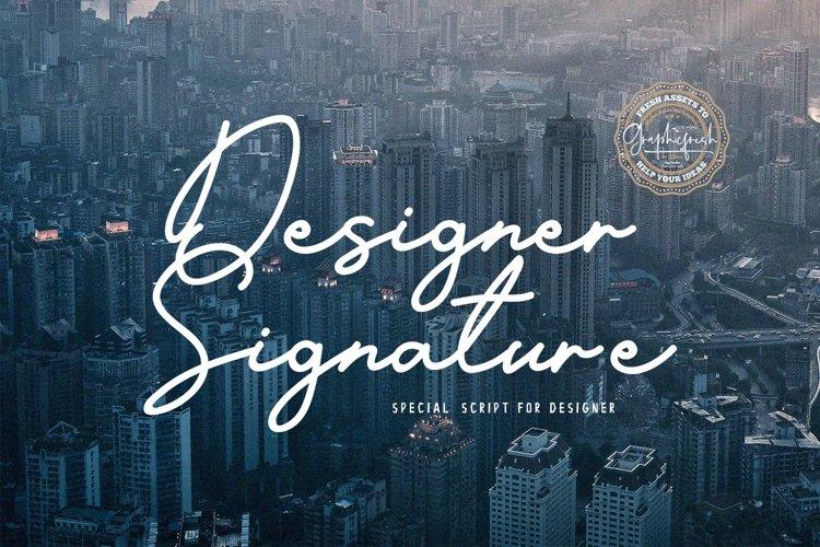 Designer Signature Font example image 1