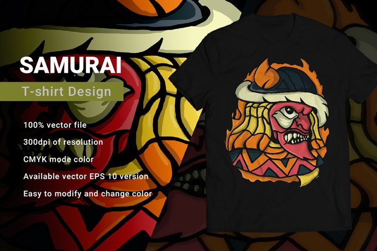 Samurai | T-Shirt Design example image 1