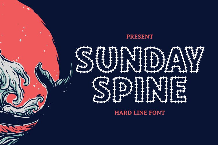 SUNDAY SPINE - Playful Display Font example image 1