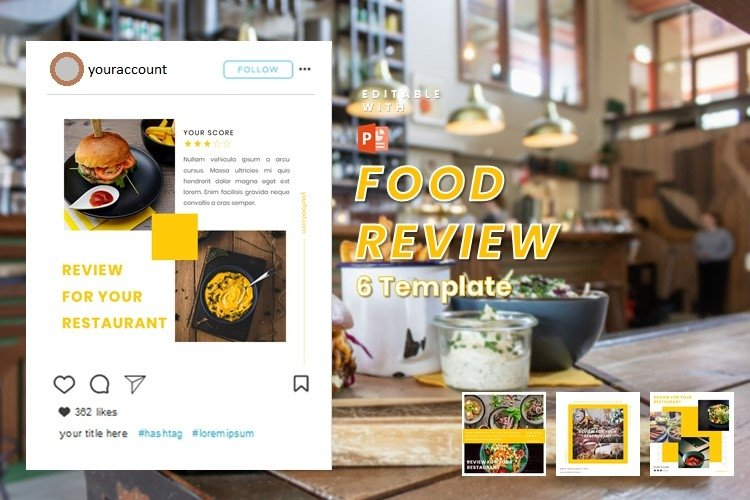 Instagram Post Template - Food Review
