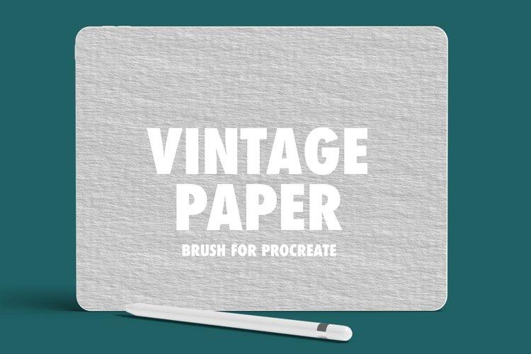 Vintage Paper Procreate Brush example image 1