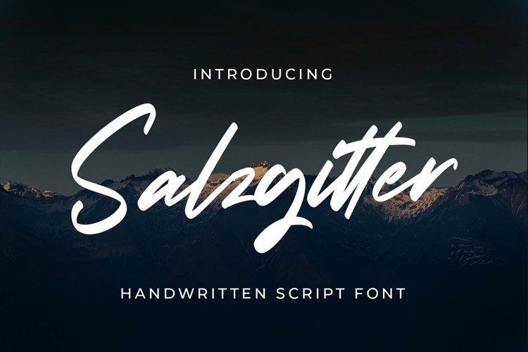 Web Font Salzgitter - Script Fonts example image 1