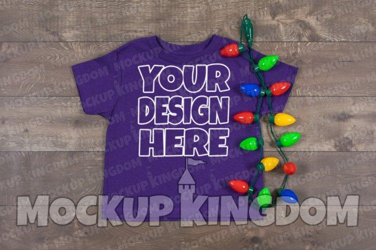 Kids Shirt Mockup, Christmas Shirt Mockup, Youth Tee Mockup