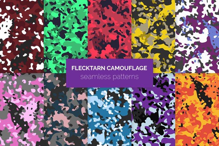 Flecktarn Camo Seamless Patterns example image 1