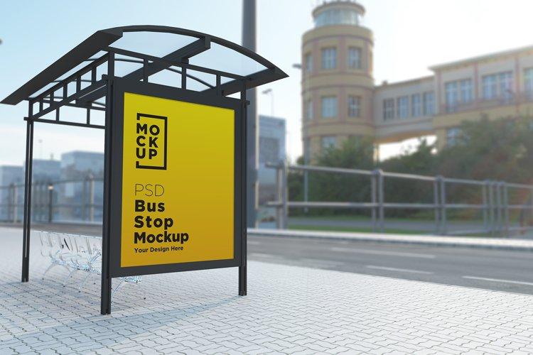 Bus Shelter Billboard Mockup example image 1