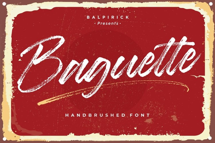 Baguette Natural Handbrushed Font example image 1