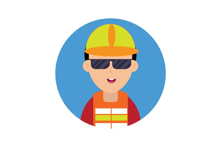 Icon Construction Workers Black Glasses example image 1