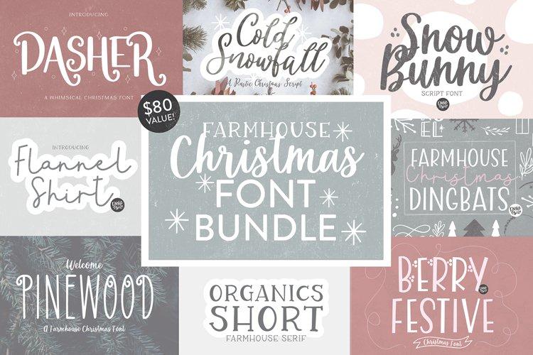 FARMHOUSE CHRISTMAS FONT BUNDLE - Dixie Type Co. example image 1