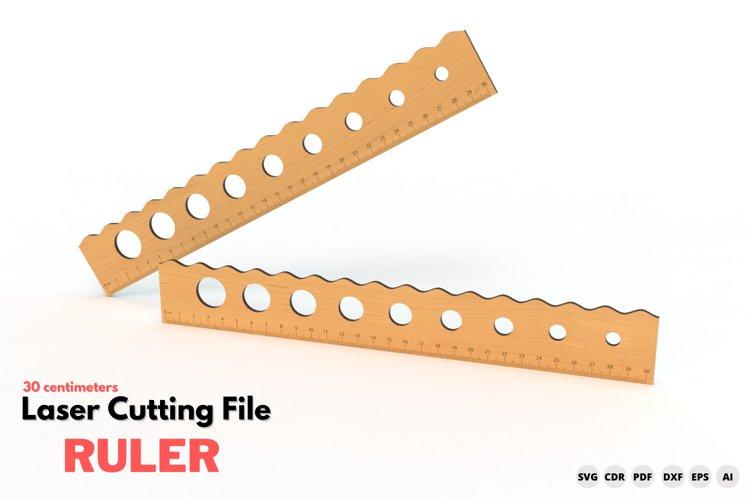 Ruler - laser cutting file example image 1