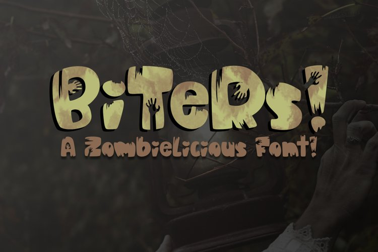 Biters | A Fun Zombielicious Font| Zombie Font| Halloween