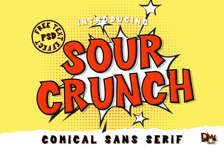 Sour Crunch - Comical Font example image 1