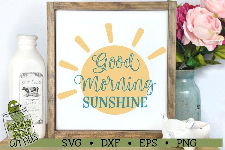 Good Morning Sunshine SVG Cut File