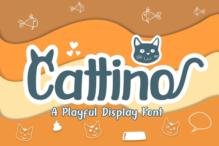 Cattino | Playful Display Font & Extras example image 1