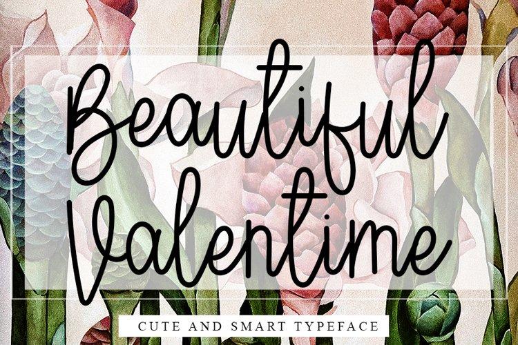Beautiful Valentine - Modern Line Font example image 1