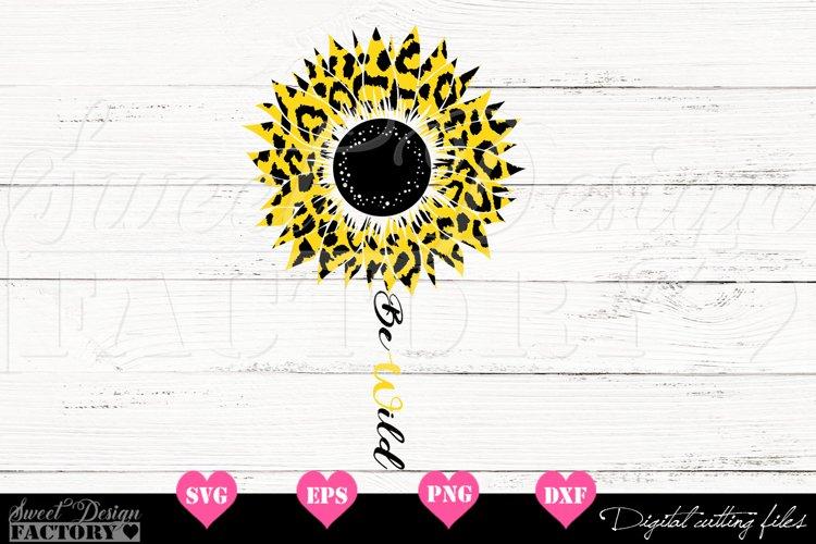 Sunflower leopard print Svg example image 1