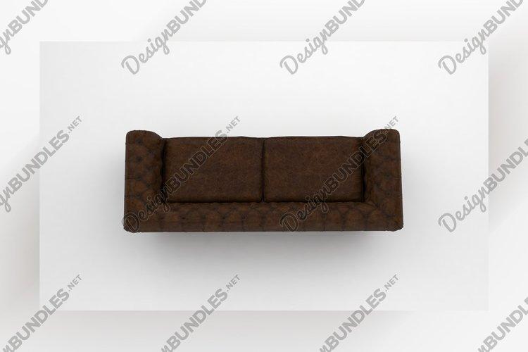 Modern luxury sofa top view furniture 3d rendering example image 1