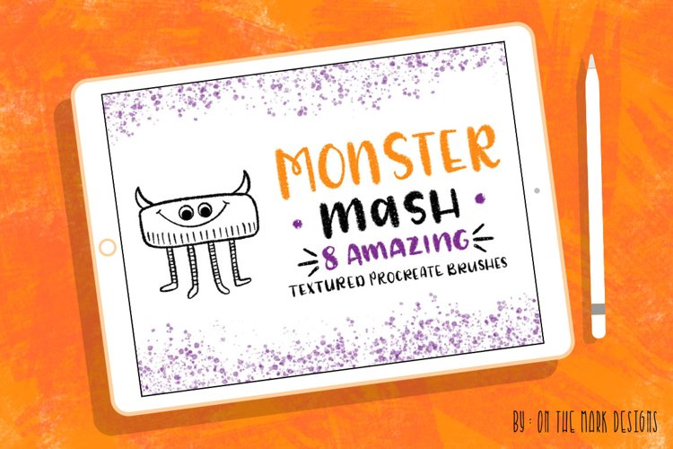 Monster Mash Textured Procreate Brushes example image 1