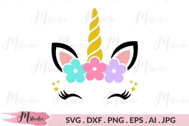 Unicorn Head SVG example image 1