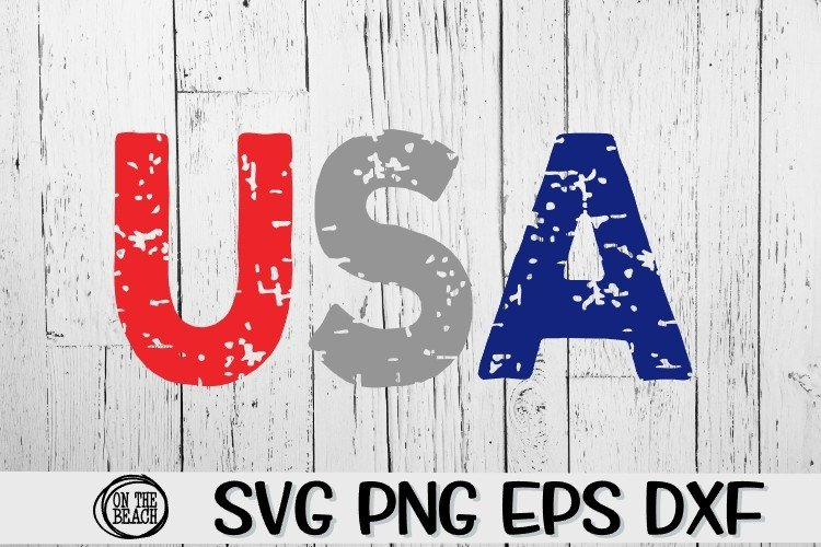 USA - Grunge - SVG PNG EPS DXF example image 1