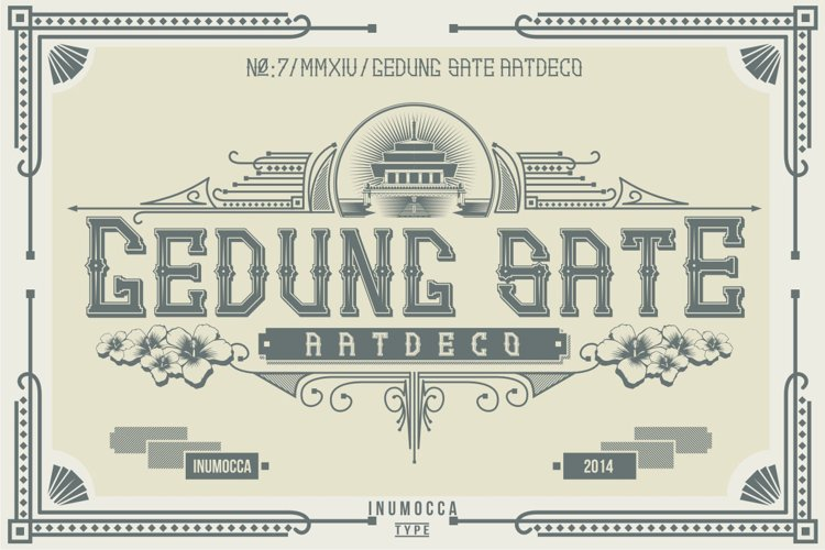 Artdeco family font example image 1