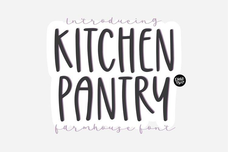 KITCHEN PANTRY Farmhouse Font example image 1